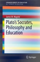 Cover image for Plato's Socrates, Philosophy and Education