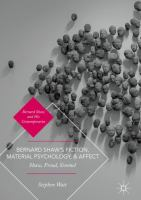 Cover image for Bernard Shaw's Fiction, Material Psychology, and Affect Shaw, Freud, Simmel