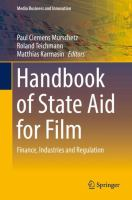 Cover image for Handbook of State Aid for Film Finance, Industries and Regulation