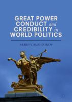 Cover image for Great Power Conduct and Credibility in World Politics