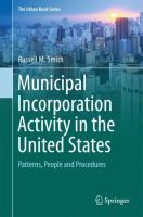 Cover image for Municipal Incorporation Activity in the United States Patterns, People and Procedures
