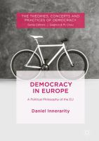Cover image for Democracy in Europe A Political Philosophy of the EU