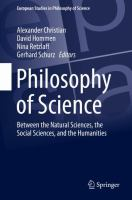 Cover image for Philosophy of Science Between the Natural Sciences, the Social Sciences, and the Humanities