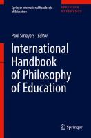 Cover image for International Handbook of Philosophy of Education