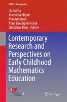 Cover image for Contemporary Research and Perspectives on Early Childhood Mathematics Education
