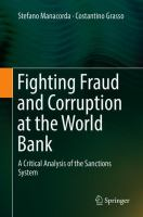 Cover image for Fighting Fraud and Corruption at the World Bank A Critical Analysis of the Sanctions System
