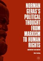 Cover image for Norman Geras's Political Thought from Marxism to Human Rights Controversy and Analysis