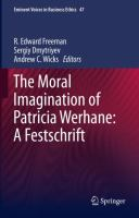 Cover image for The Moral Imagination of Patricia Werhane: A Festschrift