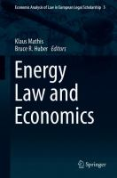 Cover image for Energy Law and Economics