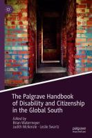 Cover image for The Palgrave Handbook of Disability and Citizenship in the Global South