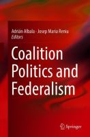 Cover image for Coalition Politics and Federalism
