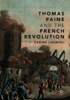Cover image for Thomas Paine and the French Revolution