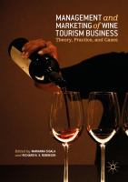 Cover image for Management and Marketing of Wine Tourism Business Theory, Practice, and Cases