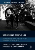 Cover image for Rethinking Campus Life New Perspectives on the History of College Students in the United States