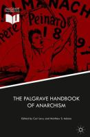Cover image for The Palgrave Handbook of Anarchism