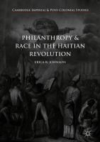 Cover image for Philanthropy and Race in the Haitian Revolution