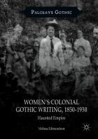 Cover image for Women's Colonial Gothic Writing, 1850-1930 Haunted Empire