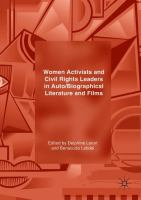 Cover image for Women Activists and Civil Rights Leaders in Auto/Biographical Literature and Films
