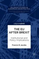 Cover image for The EU after Brexit Institutional and Policy Implications