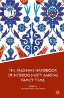 Cover image for The Palgrave Handbook of Heterogeneity among Family Firms