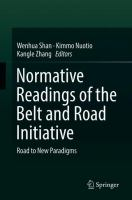 Cover image for Normative Readings of the Belt and Road Initiative Road to New Paradigms