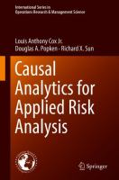 Cover image for Causal Analytics for Applied Risk Analysis