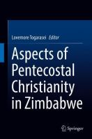 Cover image for Aspects of Pentecostal Christianity in Zimbabwe