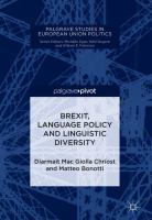Cover image for Brexit, Language Policy and Linguistic Diversity