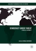 Cover image for Democracy under Threat A Crisis of Legitimacy?