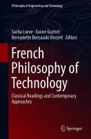 Cover image for French Philosophy of Technology Classical Readings and Contemporary Approaches