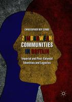 Cover image for Zimbabwean Communities in Britain Imperial and Post-Colonial Identities and Legacies