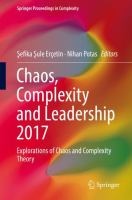 Cover image for Chaos, Complexity and Leadership 2017 Explorations of Chaos and Complexity Theory
