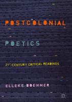 Cover image for Postcolonial Poetics 21st-Century Critical Readings