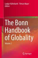 Cover image for The Bonn Handbook of Globality Volume 2
