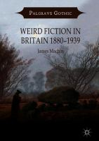 Cover image for Weird Fiction in Britain 1880–1939