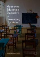 Cover image for Measuring Education Inequality in Developing Countries