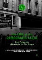 Cover image for The End of the Democratic State Nicos Poulantzas, a Marxism for the 21st Century