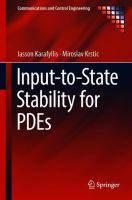 Cover image for Input-to-State Stability for PDEs