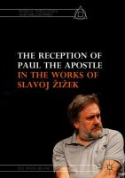 Cover image for The Reception of Paul the Apostle in the Works of Slavoj Žižek