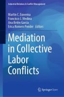 Cover image for Mediation in Collective Labor Conflicts
