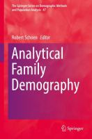 Cover image for Analytical Family Demography