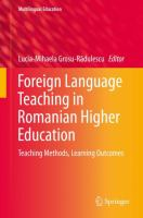 Cover image for Foreign Language Teaching in Romanian Higher Education Teaching Methods, Learning Outcomes