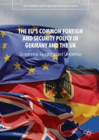 Cover image for The EU's Common Foreign and Security Policy in Germany and the UK Co-Operation, Co-Optation and Competition