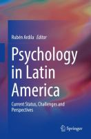 Cover image for Psychology in Latin America Current Status, Challenges and Perspectives