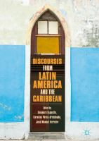 Cover image for Discourses from Latin America and the Caribbean Current Concepts and Challenges