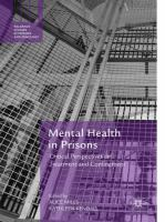 Cover image for Mental Health in Prisons Critical Perspectives on Treatment and Confinement