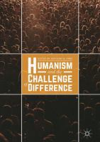 Cover image for Humanism and the Challenge of Difference