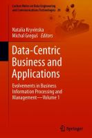 Cover image for Data-Centric Business and Applications Evolvements in Business Information Processing and Management-Volume 1