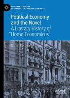 """Cover image for Political Economy and the Novel A Literary History of """"Homo Economicus"""""""