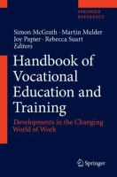 Cover image for Handbook of Vocational Education and Training  Developments in the Changing World of Work